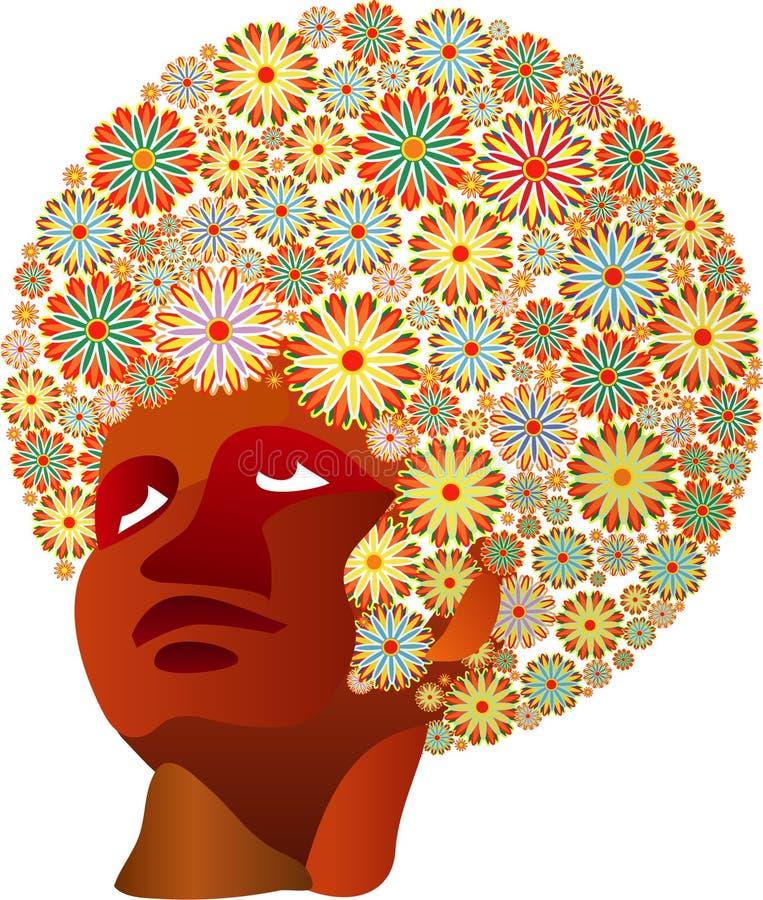 flowerhair royaltyfri illustrationer