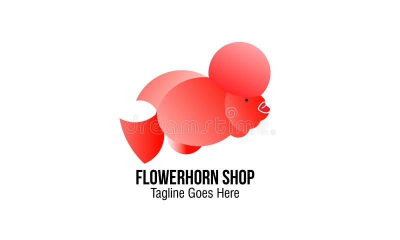 Flowerhorn sklep fotografia royalty free