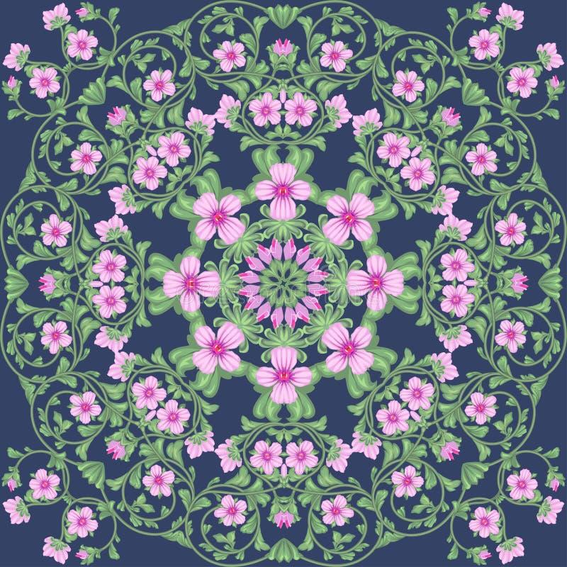 Flowering fields royalty free stock image