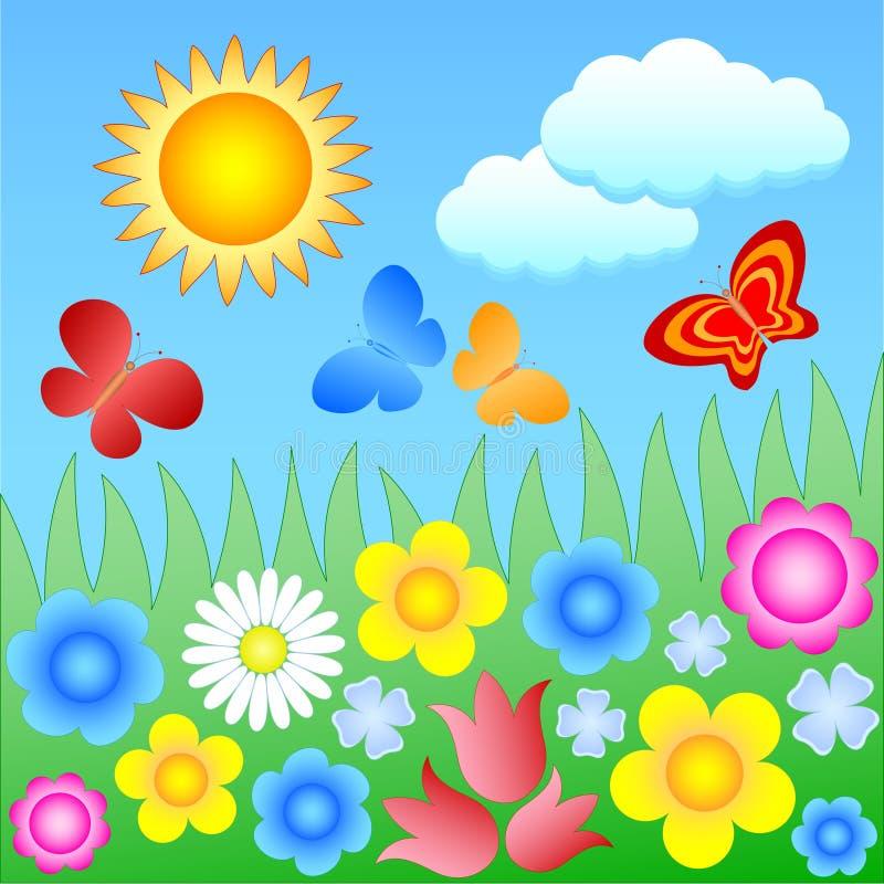 Download Flowering meadow stock vector. Image of design, outdoor - 17656063
