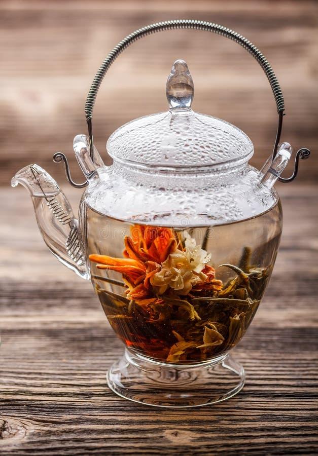 Flowering tea stock photos