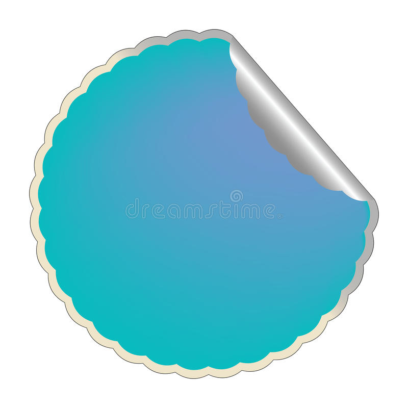 Download Flowerish blue label 2 stock vector. Image of mark, paper - 12745458