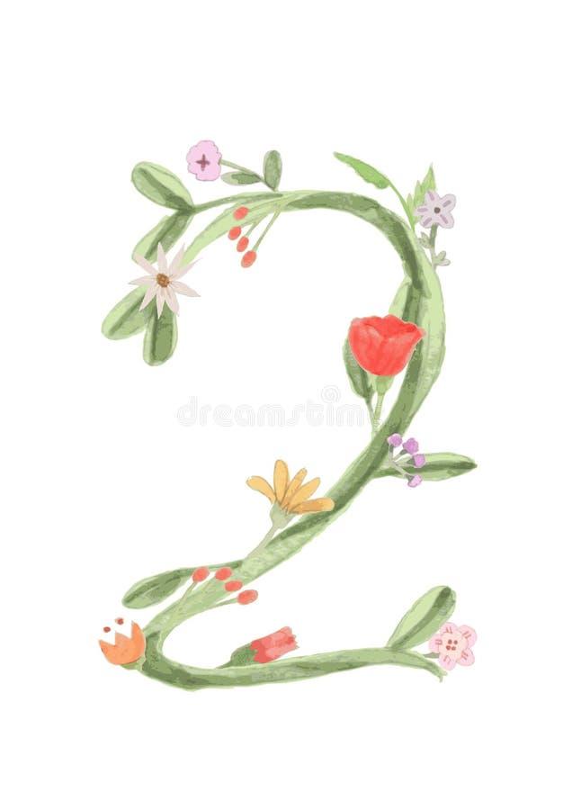 Flowernumber2 ilustracja wektor