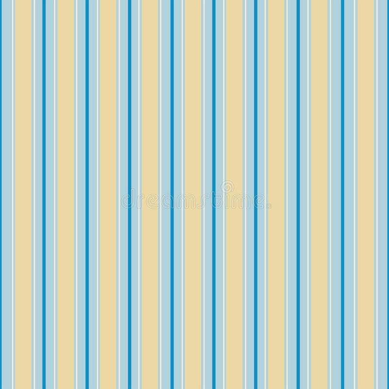 Classic stripes in blue and cream royalty free stock image