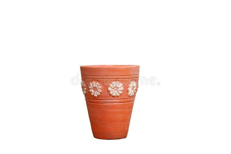 Flowerpot με το σχέδιο στοκ εικόνες