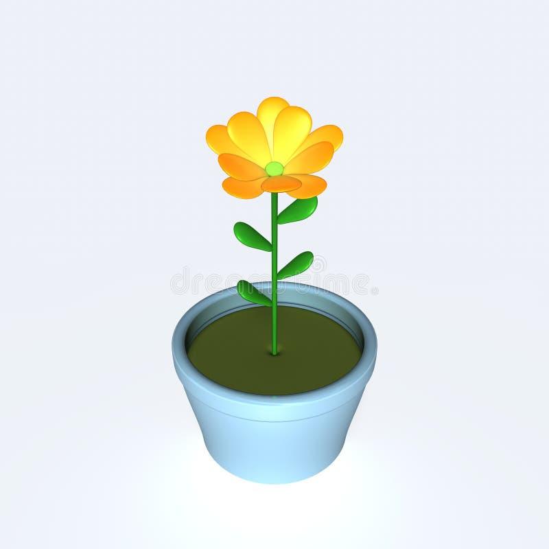 flowerpot royalty ilustracja