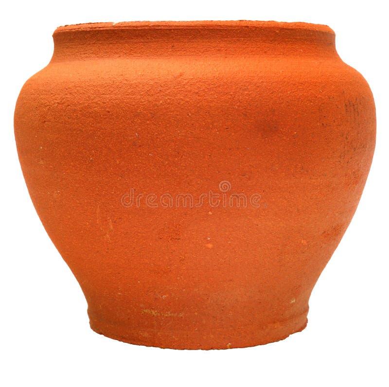 Flowerpot dell'argilla del Brown immagine stock