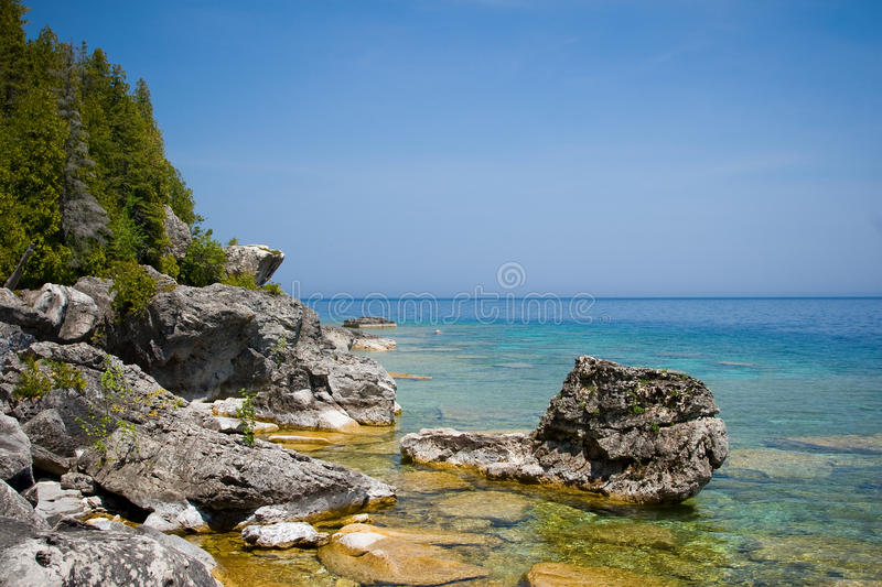 Flowerpot Island. A photo taken around Flowerpot Island, Ontario, Canada royalty free stock photo