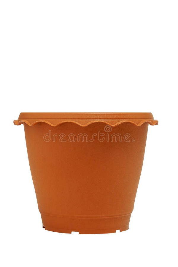 Flowerpot isolated white background. royalty free stock photo