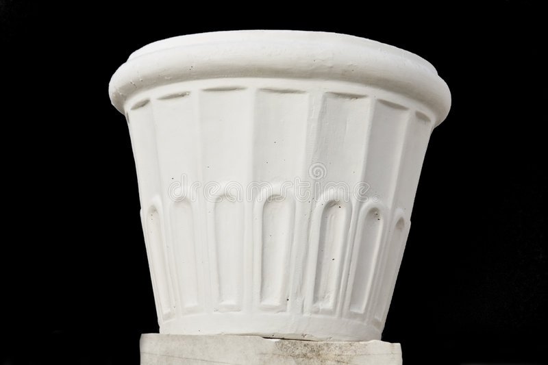 Flowerpot made by marble stock photography