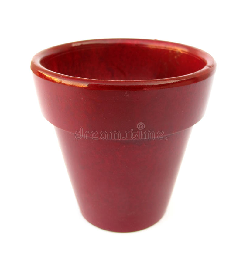 Flowerpot red simple. This is a simple, red flowerpot royalty free stock photos