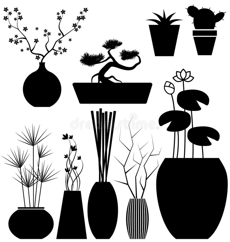 Download Flowerpot set stock vector. Illustration of florals, clipart - 42861547