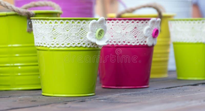 flowerpots royalty-vrije stock afbeelding