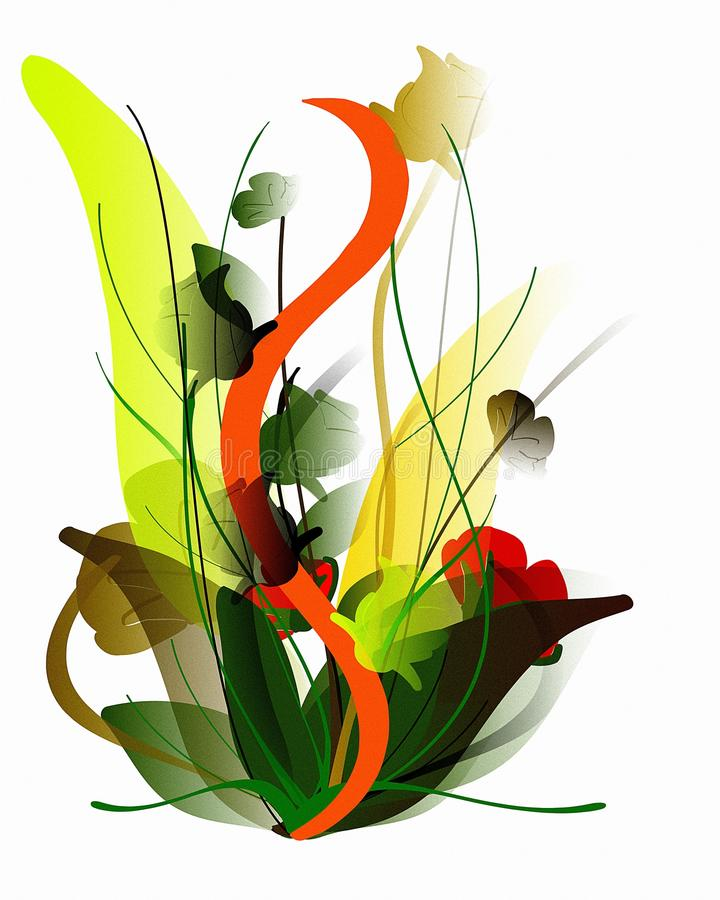 Download Colorful Isolated Artistic Flowers Composition Stock Photo - Image: 13393340
