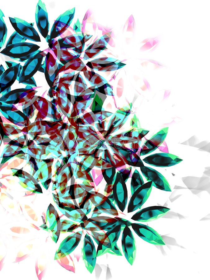 Flowers. Made of colorful stones. Illustration made on computer vector illustration