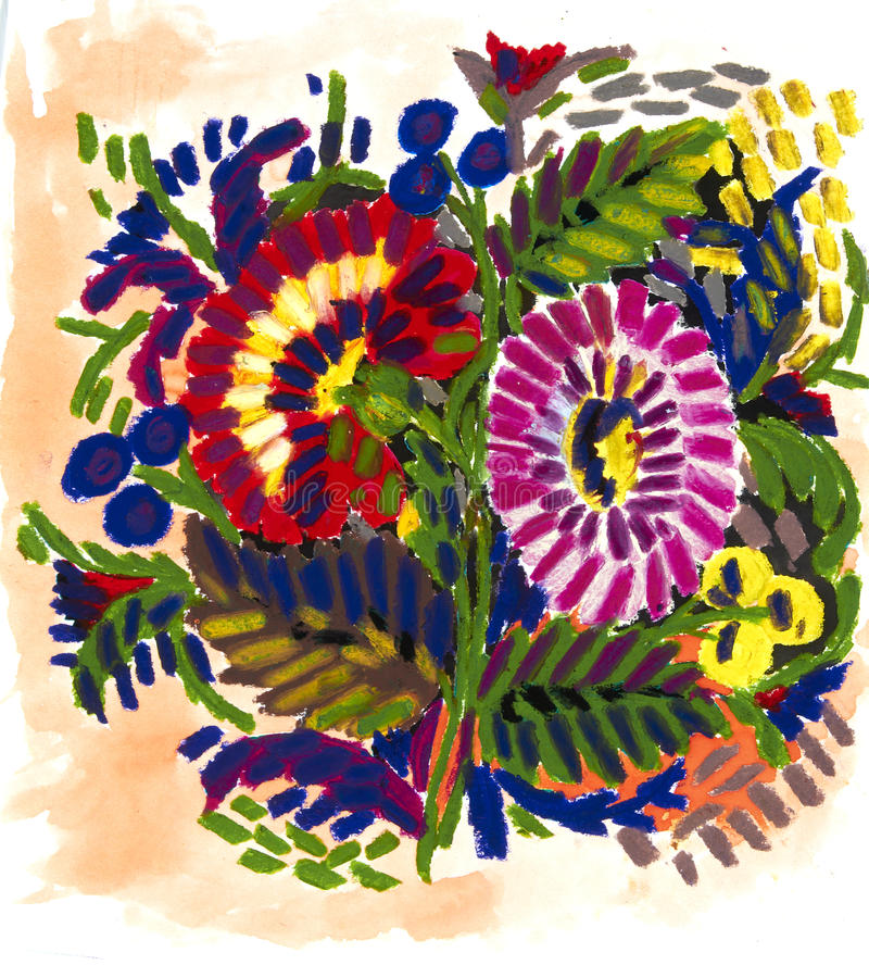 Download Flowers stock illustration. Image of painted, bouquet - 23947268