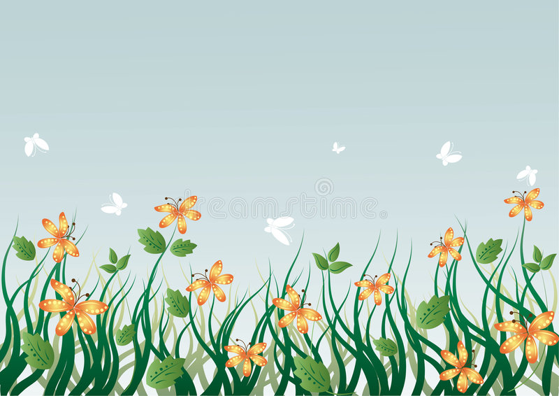 Download Flowers stock vector. Illustration of butterflies, bush - 2785397