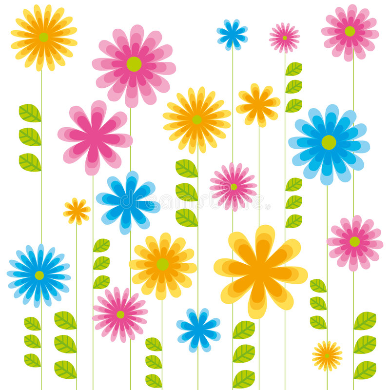 Download Flowers stock vector. Illustration of white, pink, image - 5604299