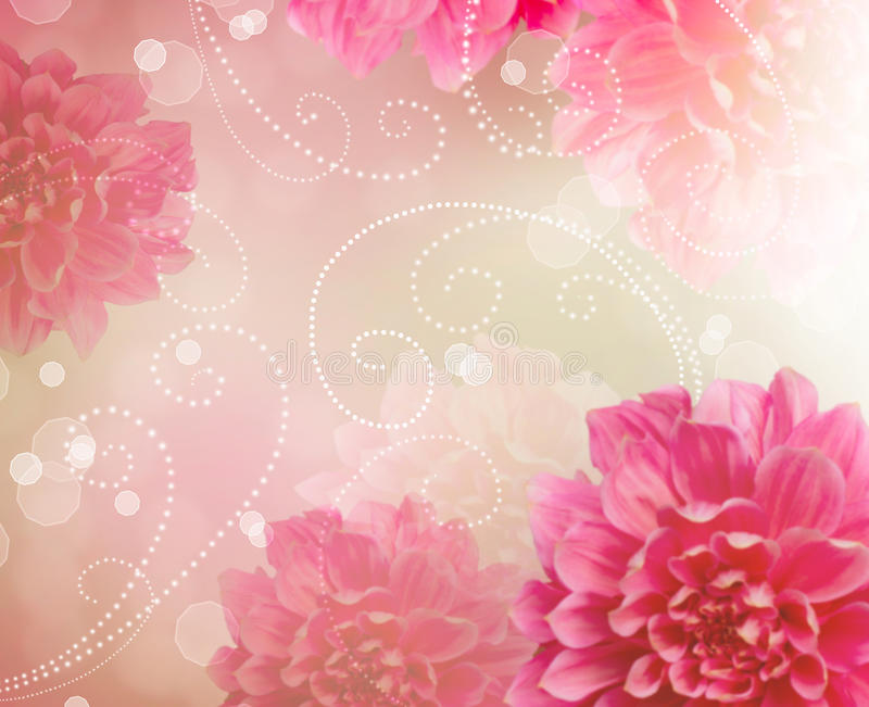 Flowers Abstract Design Art Background. Floral Wallpaper royalty free illustration