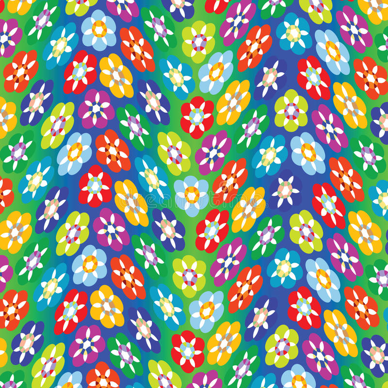 Flowers abstract pattern stock image