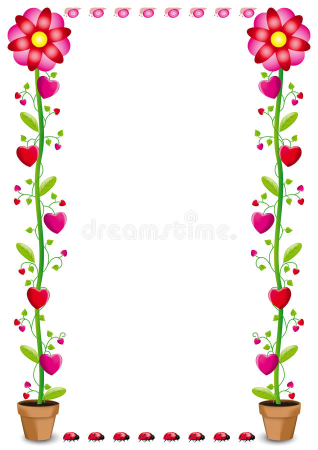 Free Flowers And Hearts Royalty Free Stock Photo - 29381775