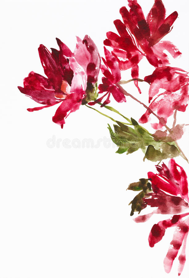 Download Flowers as background stock illustration. Image of branches - 9986721