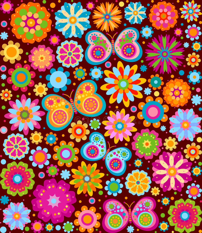 Flowers background vector illustration