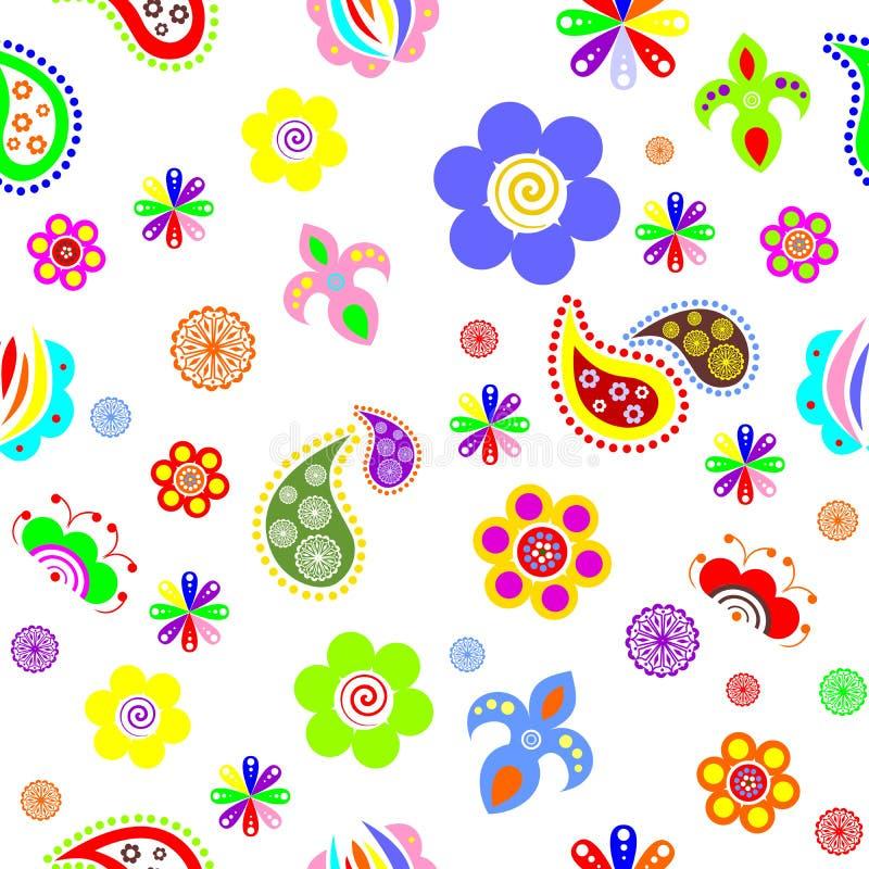 flowers_background stock illustrationer