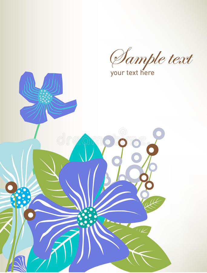 Flowers background card royalty free illustration