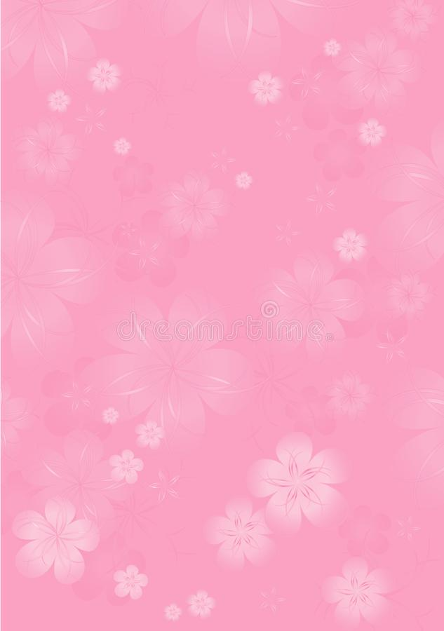 Flowers background. Flowers design. Vector abstract illustration. Light Pink Sakura blossoms background. Vector stock illustration