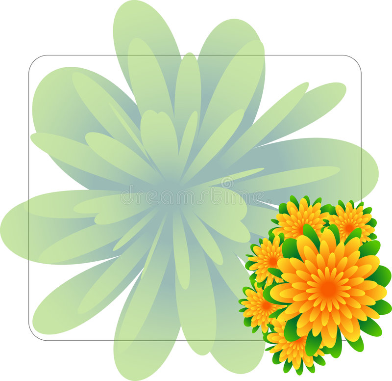 Flowers and background frame royalty free stock photography