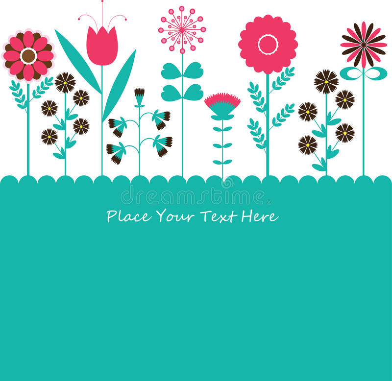 Flowers background vector. For you vector illustration