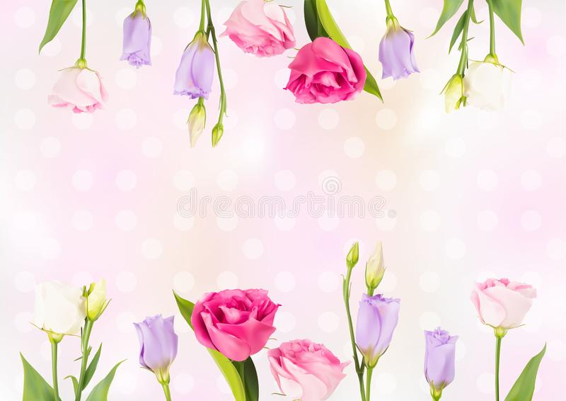 Flower Background and Spring Vector Illustration EPS10 vector illustration