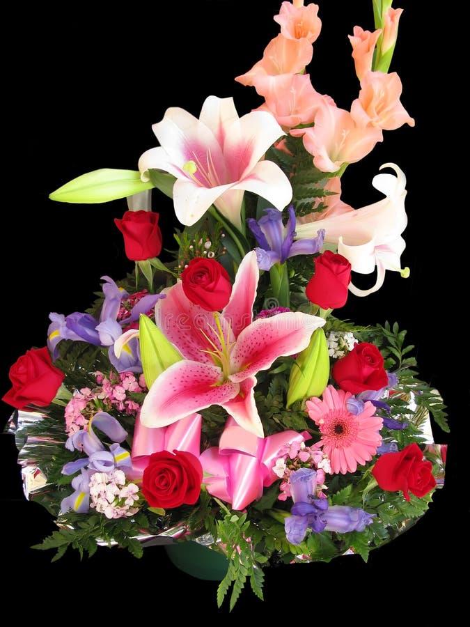 Flowers basket stock photos