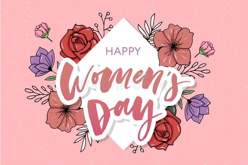Flowers beautiful floral art watercolor sale banner style for 8 March, Mother's Day Women's day. Flowers beautiful floral vector art watercolor sale vector illustration