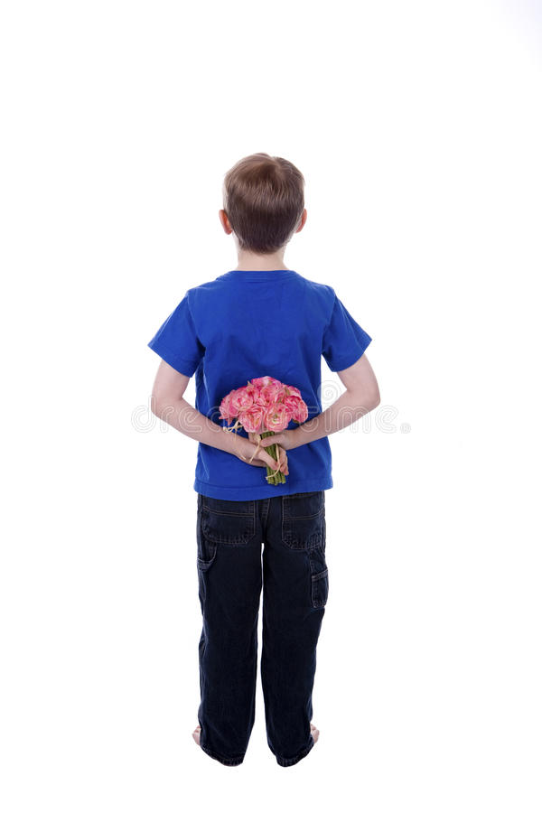 Flowers behind Back stock photo