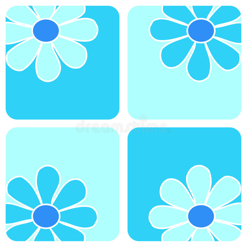 Flowers - Blue composition royalty free illustration