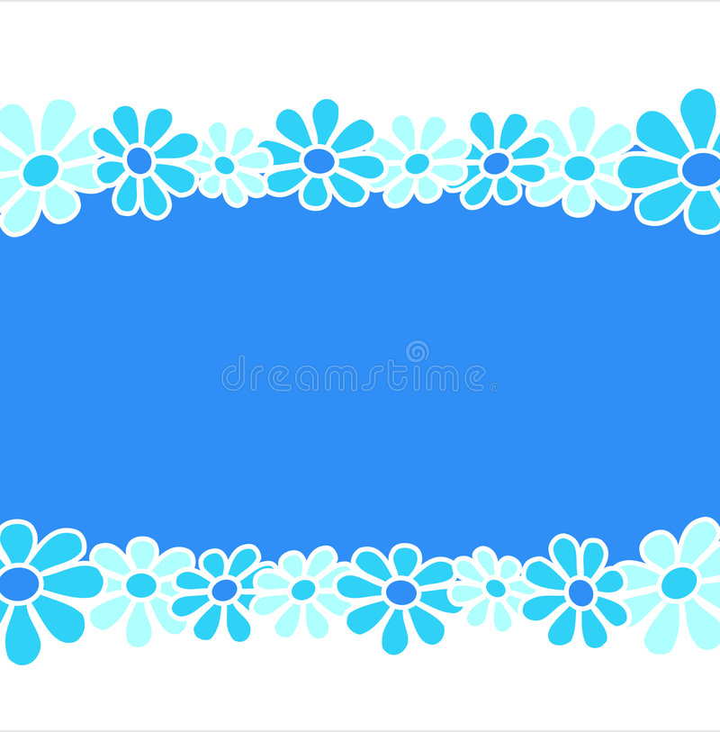 Flowers - Blue composition stock illustration