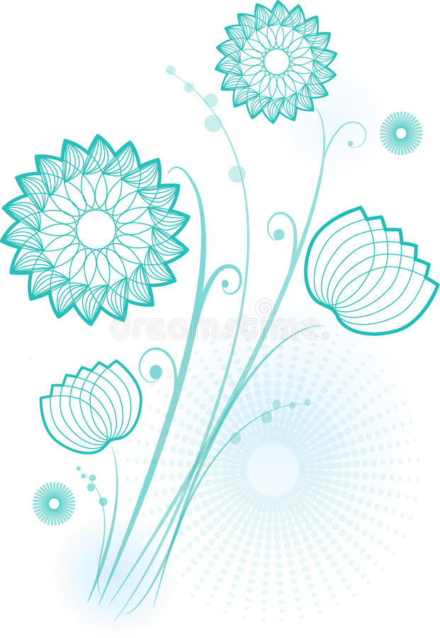Download Flowers in blue stock vector. Image of lotus, plant, water - 31872219