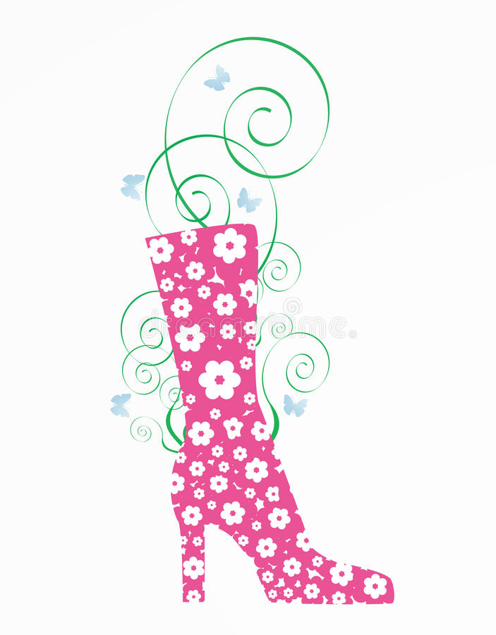 Download Flowers boot stock vector. Image of greeting, artwork - 18688593