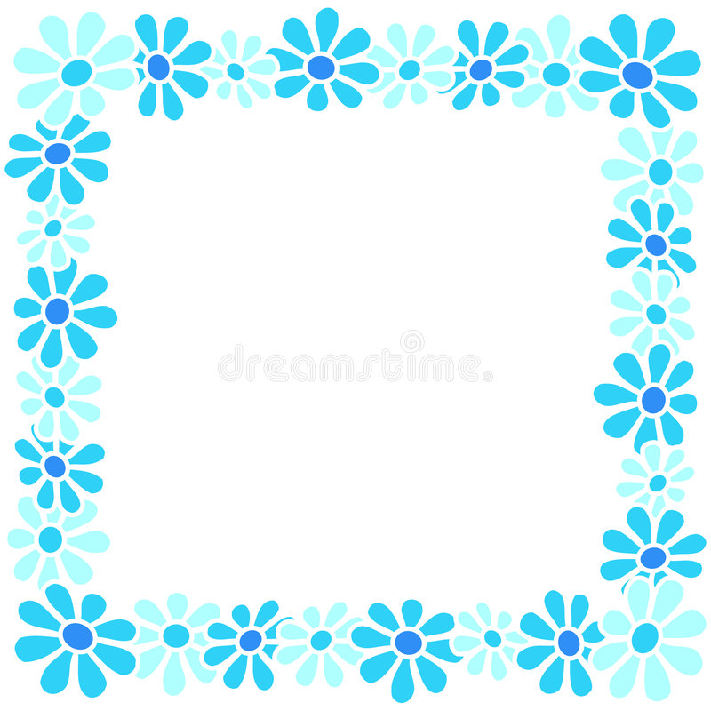Flowers - Border stock illustration
