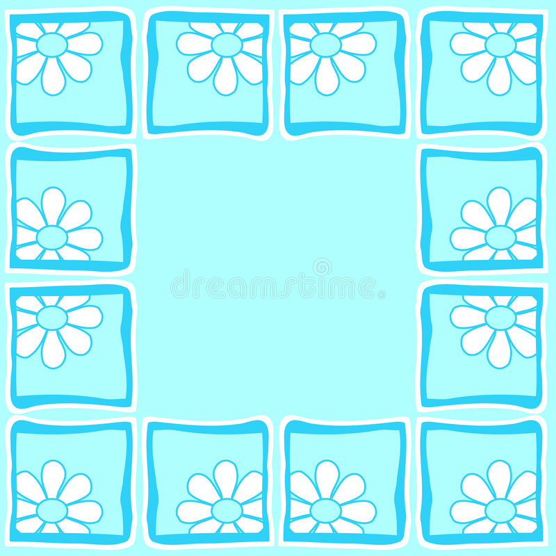 Flowers - Border vector illustration