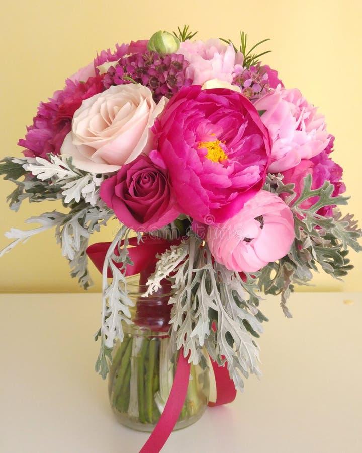 Flowers bouquet. Breautiful colorful bridal flowers bouquet stock photos