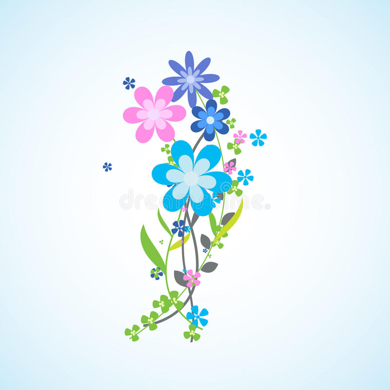 Flowers. Bouquet of bright flowers. A bouquet of flowers of different colors and shapes royalty free illustration