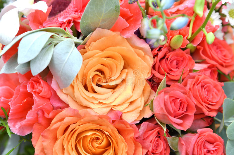 Flowers in bouquet stock photo