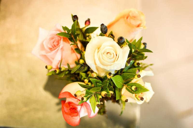Flowers Bouquet For Emotional Anniversary Stock Image - Image of ...