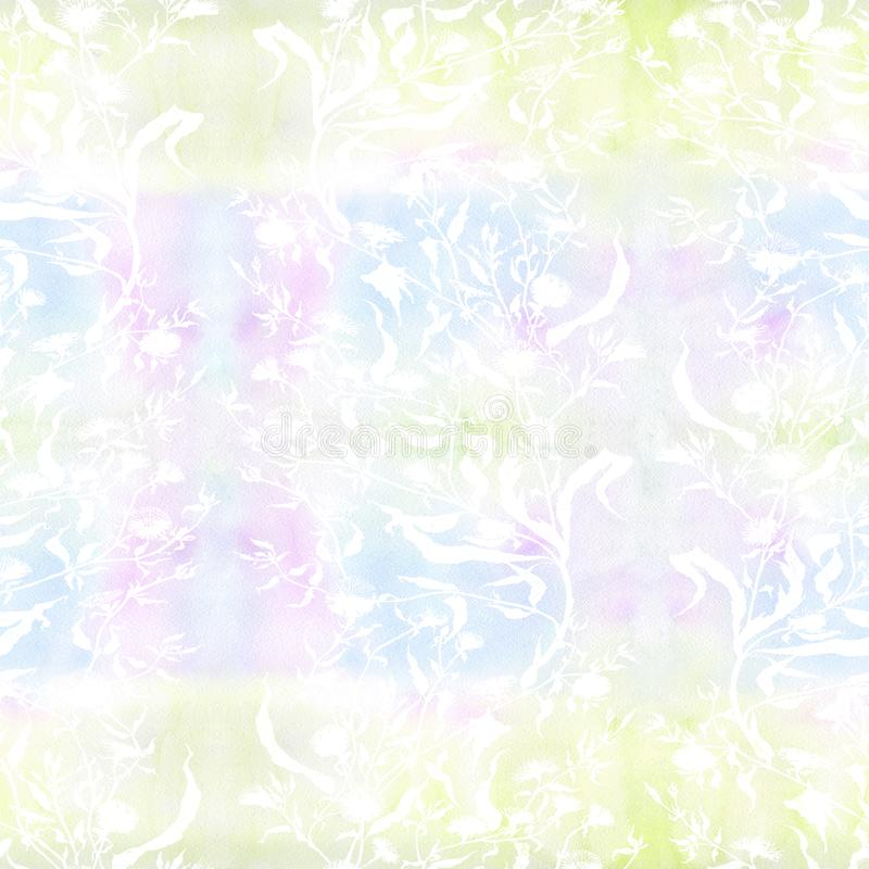 Flowers. Bouquet with leaves, flowers and buds. Watercolor. Seamless pattern Collage of flowers and leaves on a watercolor backgro. Und. Use printed materials vector illustration