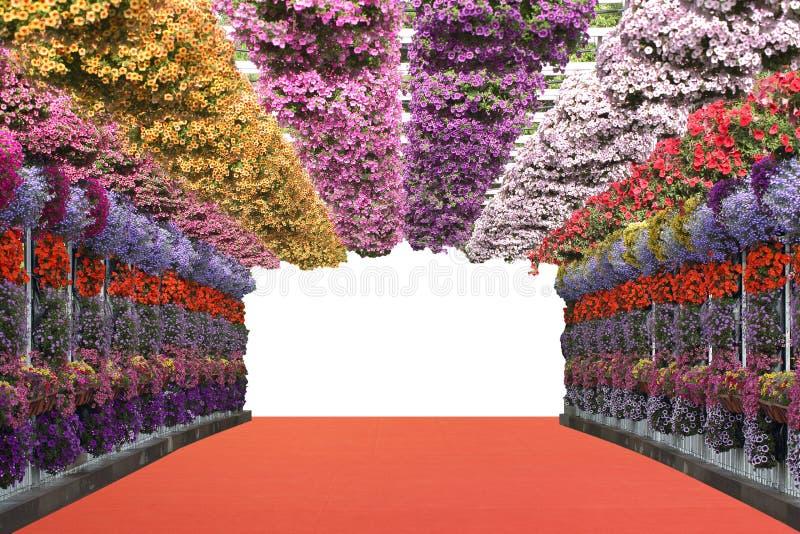 Flowers bridge royalty free stock image