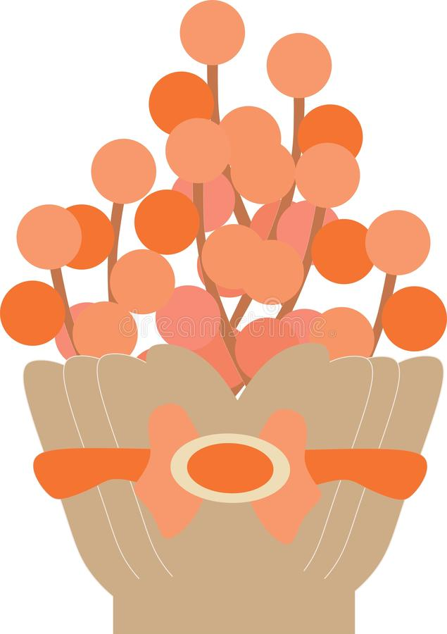 Flower Bucket Flat Vector 6765. Flowers in buckets bouquet for spring botanical royalty free illustration