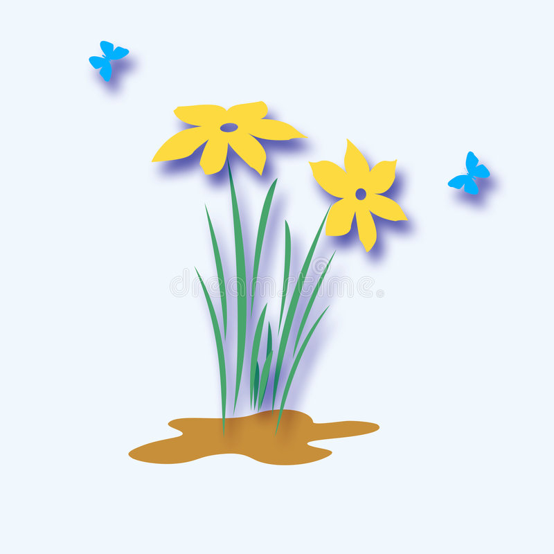 Download Flowers and butterflies stock illustration. Image of flora - 4274343